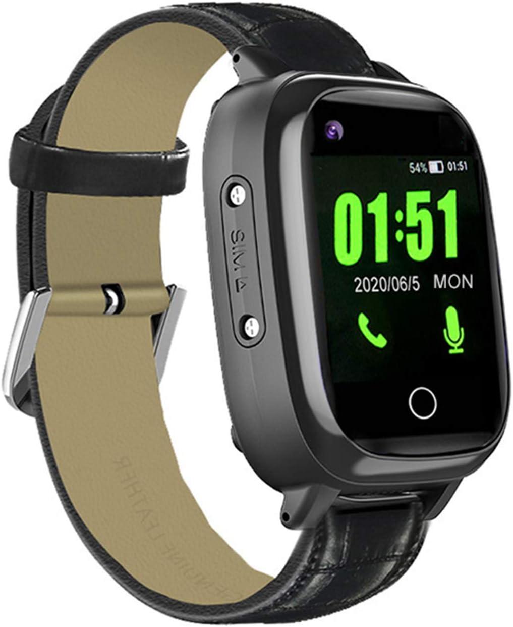 Reloj inteligente 4G GPS para niños mayores, Monitor de presión arterial de frecuencia cardíaca 4G, Llamada telefónica WiFi, Cámara de pantalla táctil Geo-Fence SOS Alarma GPS Anti-Lost
