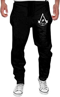 Mens Assassin's Creed Syndicate Logo Fashion Sport Cotton Sweatpants