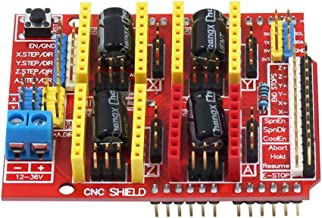 Expansion Board Professional CNC Shield Motor Driver Kits 3D Printer Parts V3.0 Durable Replacement Useful Stepper with Heatsink for Arduino UNO R3