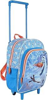 Walter Disney Frozen - Mochila con Carrito, 29 cm, Color Azul