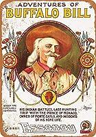 Buffalo Bill's Wild West Motion Picture メタルポスター壁画ショップ看板ショップ看板表示板金属板ブリキ看板情報防水装飾レストラン日本食料品店カフェ旅行用品誕生日新年クリスマスパーティーギフト