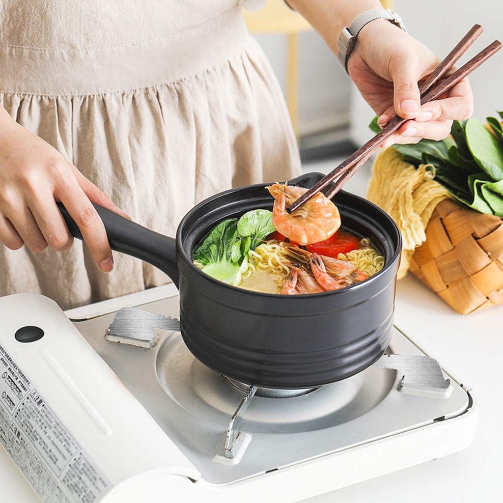 XFPINK Petit Pot à Lait en CéRamique, Monocommande, CompléMent Alimentaire pour Pot à Nouilles avec Couvercle Cocotte Mijoteuse 1,3l Green