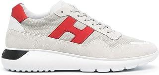 Hogan Sneaker Uomo Interactive 3 Grigio e bordò - HXM3710AJ18 PDK51AG - Taglia