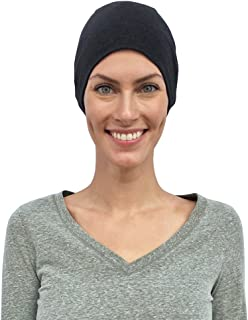 Chemo Hats Women, Cancer Caps, 100% Organic Cotton, Made in Canada, Sleep Headwear