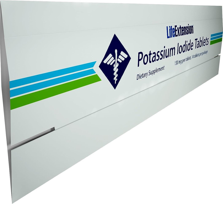 重要講堂リスキーな【短期間用:ヨウ化カリウム】 Life Extension - Potassium Iodide Tablets 130 mg - 14錠  ~海外直送品~