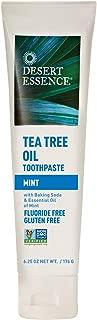 Desert Essence Tea Tree Oil Toothpaste - Mint - 6.25 Oz - Refreshing Taste - Deep Cleans Teeth & Gums - Helps Fight Plaque - Sea Salt - Pure Essential Oil - Baking Soda - Promotes Healthy Mouth