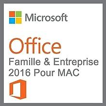 Office Famille et Petite Entreprise 2016 MAC | Licence Lifetime | Pas d'abonnement | Licence numérique originale Envoyé dans un jour par E-mail
