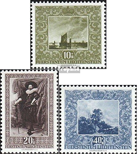 Prophila Collection Liechtenstein 301-303 (kompl.Ausg.) 1951 Werke holländischer Meister (Briefmarken für Sammler) Malerei
