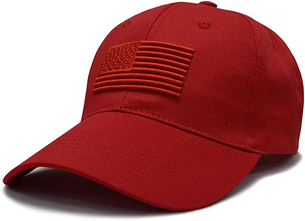 Adults American Flag Baseball Caps Summer Dad Hats SPF 50+ UV Sun Protection Sun Hat Distressed Washed Trucker Hat
