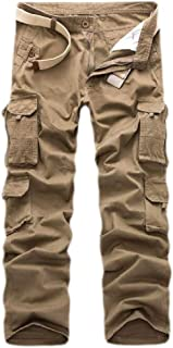 CBTLVSN Men's Military Tactical Multi-Pocket Casual Cargo Pants Straight Trouser