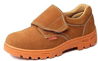 ZYFXZ Léger en cuir suédé électriques Soudeurs sécurité Sneakers Hommes Femmes Travail occasionnel Chaussures Steel Toe Ca...