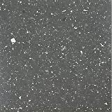 Achim Home Furnishings STBSG70620 Sterling Self Adhesive Vinyl Floor Tile, 12' x 12', Black Speckled Granite, 20 Piece