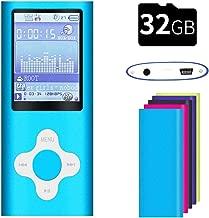 G.G.Martinsen White on Blue Versatile MP3/MP4 Player, Support Photo Viewer, Mini USB Port 1.8 LCD, Digital MP3 Player, MP4 Player, Video/Media/Music Player