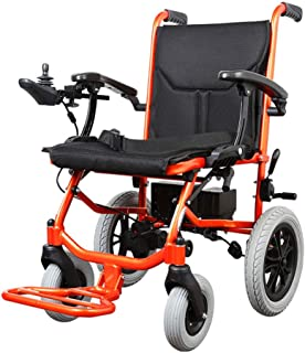 LiRongPing Ultra-Light Electric Wheelchair Available On Board Detachable Lithium Battery Brushless Motor Foldable with Intelligent Controller