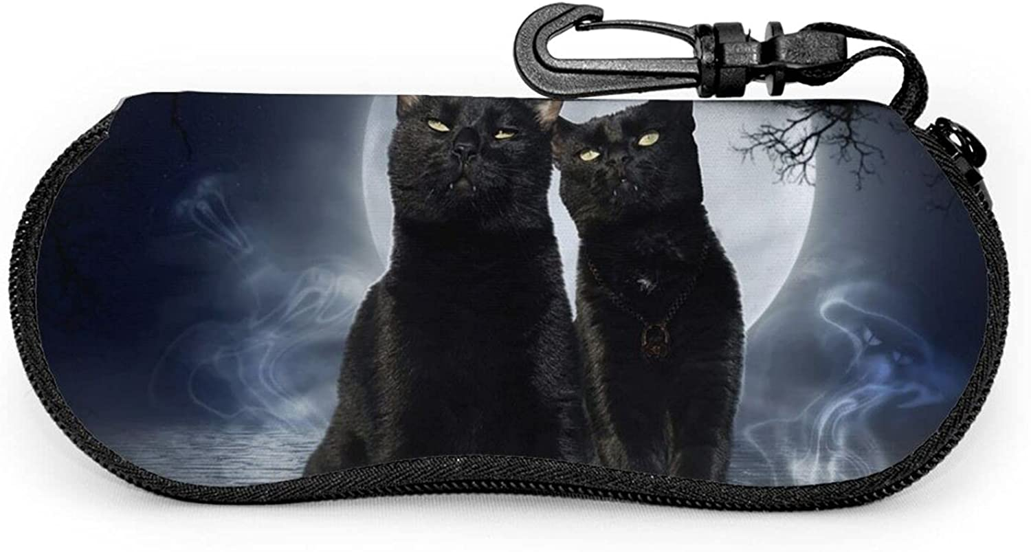 2021new shipping Ranking TOP10 free black cat Persian Sunglasses Soft Clip Belt Porta with Case