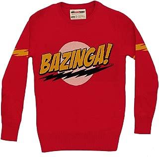 Big Bang Theory Bazinga Men's Knit Sweater, Red, XX-Large