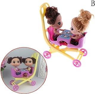 OSAYES Kelly Doll + 1pc Cochecito Doble Cochecito muñeca Juguete muñeca con Accesorios Accesorios Juego de casa de muñecas Cochecito de bebé Walker Scooter Stand para muñecas Barbie