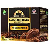 Ganoderma Coffee - Reishi Coffee Mix- Instant 2-in-1 Mushroom Coffee. All Natural Ganoderma Lucidum...