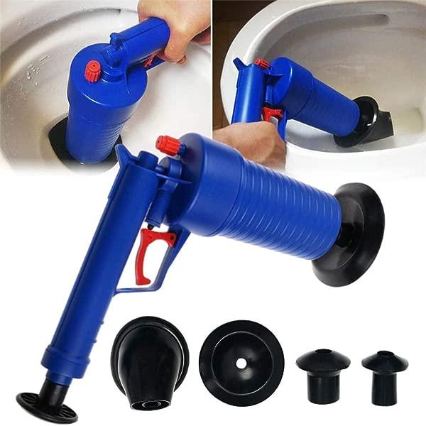 Panzisun Toilet Plunger High Pressure Air Drain Blaster Plunger Opener Pump Cleaner For Bathroom Shower Kitchen Sink Clogged Pipe Bathtub