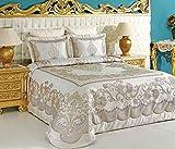 vinaldi Türkisch Polyester Tagesdecke Set (Tuana) 260 x 270 cm beige