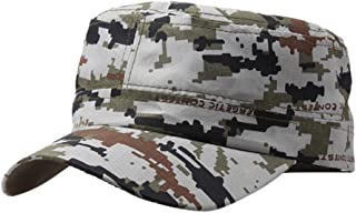 Men Women Washed Cotton Military Caps Cadet Army Caps Unique Design Vintage Flat Top Cap