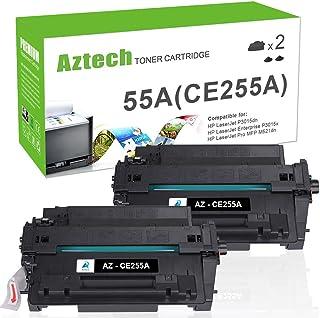 Aztech Compatible Toner Cartridge Replacement for HP CE255A 55A 55X CE255X Laserjet Enterprise P3015dn P3015x Laserjet Pro 500 MFP M521dn M521dw (Black, 2-Packs)