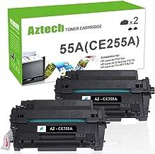 Aztech Compatible Toner Cartridge Replacement for HP CE255A 55A 55X CE255X (Black, 2-Packs)