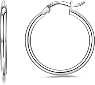 hypoallergenic silver hoop earrings