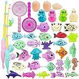 MOOKLIN ROAM Angeln Spielzeug, 39 Stück Baby Badespielzeug, Wasserspiel Magnetisches Badewannenspielzeug, BPA-frei Lernspiel Schwebendes Spielzeug Geschenk für Baby Kinder Angelnlernen