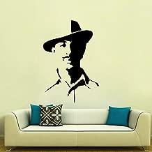 DecorVilla Bhagat Singh Wall Sticker and Decal (PVC Vinyl, 86 x 58 cm, Black)