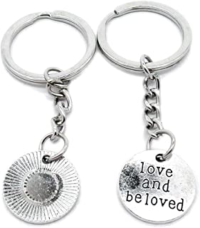Metal Antique Silver Plated Keychains Keyrings Keytag YK104 Love and Beloved Tag Signs Key Chain Ring