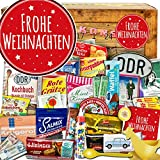 Frohe Weihnachten   DDR Advent Kalender  DDR Produkte   Kultartikel der DDR in 24 Türchen   weihnachtlich verpackt mit Ostmotiven