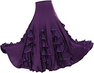 63b145f2c9595 Sharplace Jupe Flamenco Ballroom Danse Robe Jupe Balançoire Vêtement  Déguisment Femme Fille