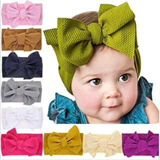 baby girl bow head wraps