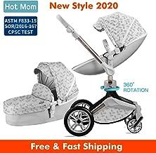 Baby Stroller 360 Rotation Function,Hot Mom Pushchair Pram,New Style 2020,Grey Leaves