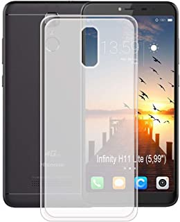 YZKJ Case for HISENSE (F24) Infinity H11 Lite,Shock-Absorption Light but Durable Flexible Soft Gel Crystal Translucent TPU Silicone Protection Case Cover for (5.99