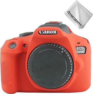 Rojo Cuerpo Completo Caucho de TPU Funda Estuche Silicona para cámara para Canon Rebel T6 Rebel T7 Kiss X80 Kiss X90 EOS 2000D 1500D 1300D