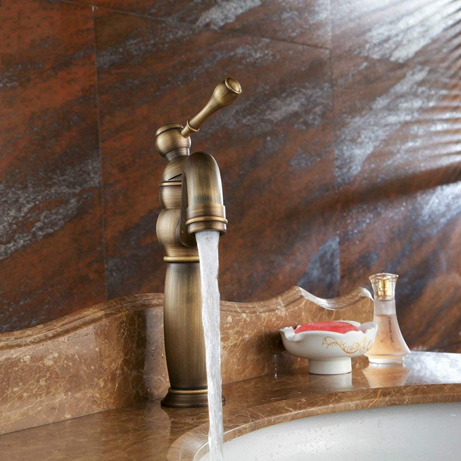 Oudan Basin Mixer Tap Bathroom Sink Faucet Antique copper basin surface basin 360 degree turn the COLD WATER FAUCET
