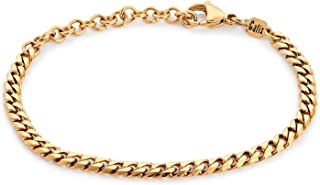 Handmade Cuff Chain Bracelet For Men Made Of Gold Plated Over Stainless Steel By Galis Jewelry - Gold Bracelet For Men - C...