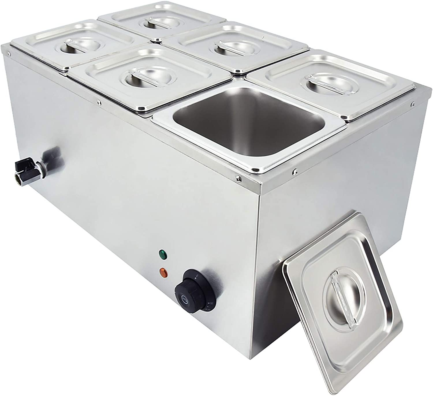 Commercial Food Warmer 6-Pan Electric OFFer 110V Stainless Marie Limited price sale Bain