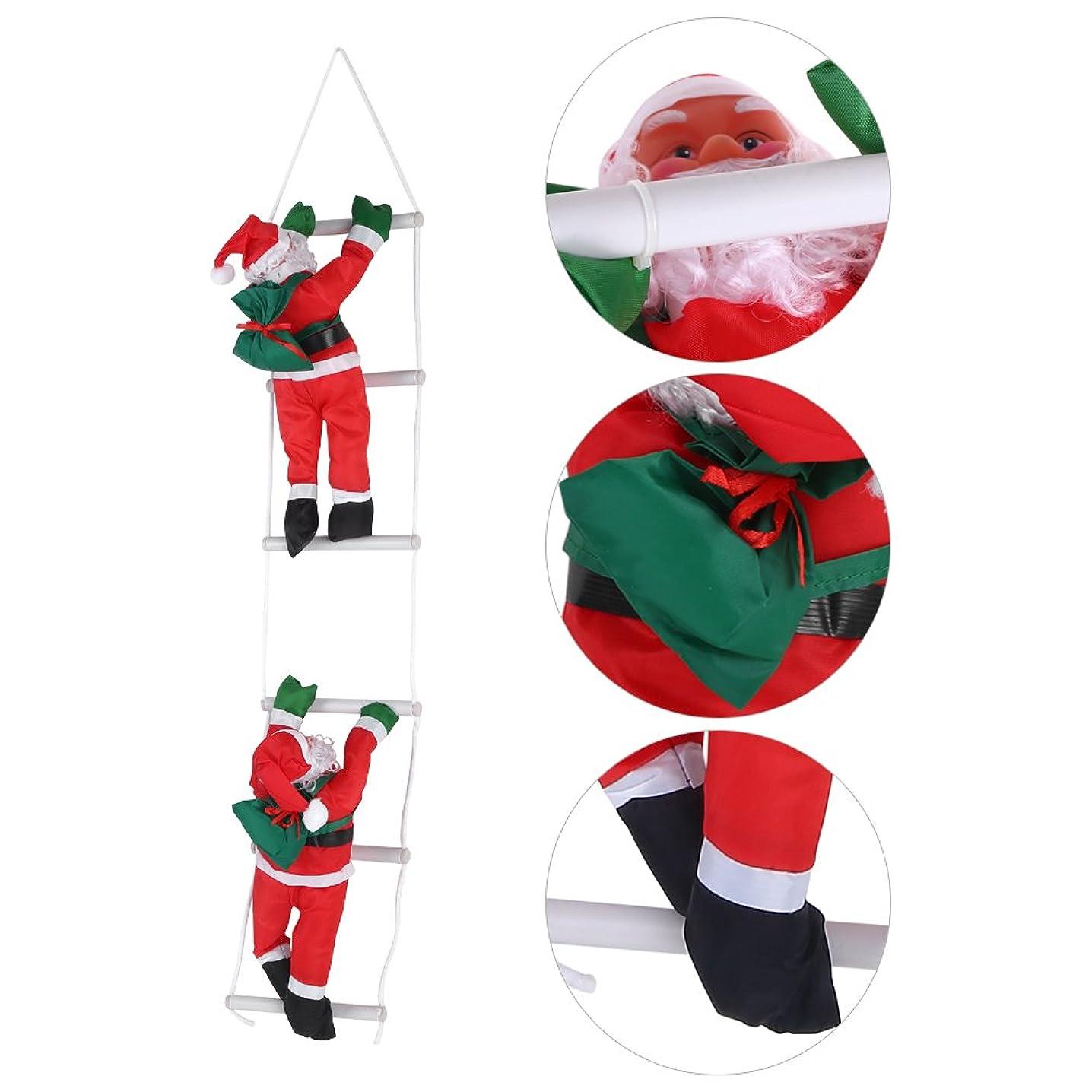 共産主義無意識気楽なはしごサンタクロース2人 クリスマス装飾 クリスマスツリーハンギング 装飾 吊り飾り 窓 ドア 人形 クリスマスデコレーション ドア オーナメント インテリア