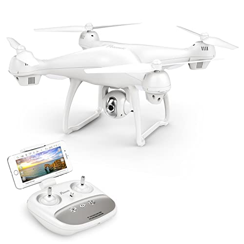 Potensic Drone With 1080P HD Camera, T35 GPS FPV RC Drone, 1080P Camera Live Video and GPS Return Home Quadcopter with WIFI Camera - Follow Me, Altitude Hold, 2500mAh Battery Long Control Range