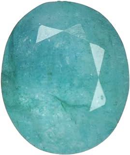 Real Gems Piedra facetada de Forma Ovalada de Piedras Preciosas de Esmeralda Natural de 13 mm, Calidad AAA + 4.00 CT Piedr...