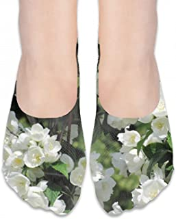 手の花の葉フットカバーソックス 浅履き シリコンゴム滑り止め付 脱げない レディース