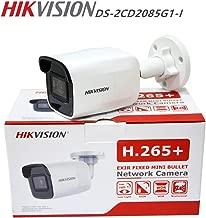 Hikvision 8MP 4K Outdoor Bullet PoE IP Camera DS-2CD2085G1-I 4mm Fixed Lens, 3840x2160, EXIR 98ft Night Vision, Smart H.265+ WDR, SD Card Slot, VCA, ONVIF, IP67