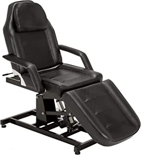 BarberPub Electric Salon SPA Massage Bed Tattoo Chair Facial Adjustable Table Beauty Equipment 0100 (Black)