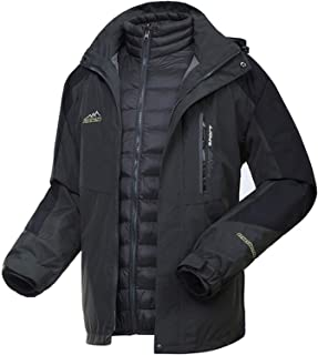 WOCTP , Invierno de esquí Impermeable a Prueba de Viento Desmontable Liner Abajo sujetado con Cinta Adhesiva Escudo Costur...