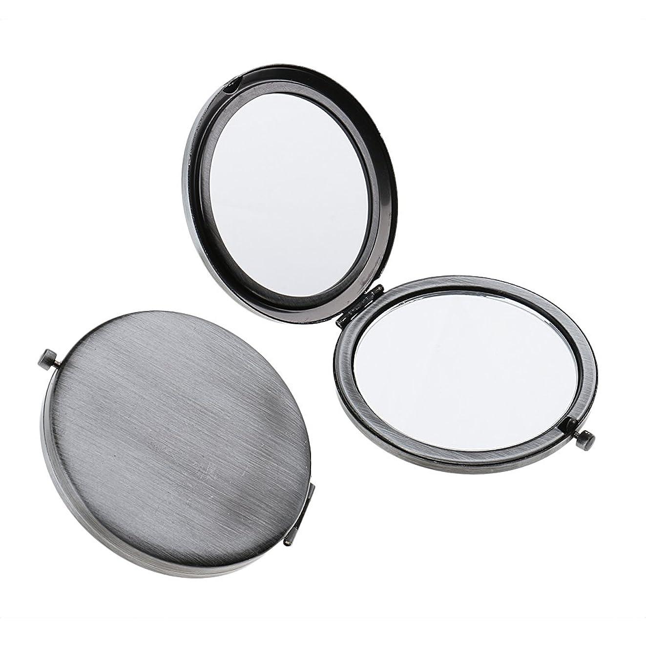 予知素晴らしさ抵当T TOOYFUL ミニ手鏡 両面コンパクトミラー ステンレス 折りたたみ式 ハンドミラー 携帯ミラー 2個入り - クラシックシルバー