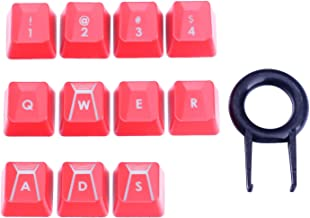 HUYUN Performance Gaming keycaps for Romer-G Switch Logitech G310 G413 G613 G810 K840 G910 Mechanical Keyboard (Red 11 Keys)