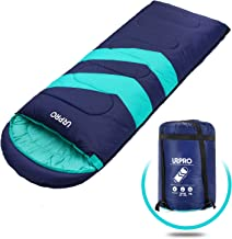 URPRO Sleeping Bag 3-4 Seasons Warm Cold Weather Lightweight, Portable, Waterproof Sleeping Bag with Compression Sack for Adults & Kids - Indoor & Outdoor: Camping, Backpacking, Hiking (Blue)